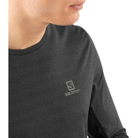 Salomon XA T-shirt Manches longues Homme, black/heather